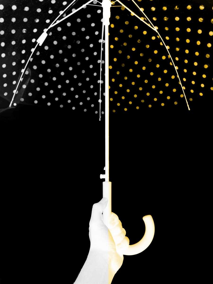 Yellow dots, silly rain