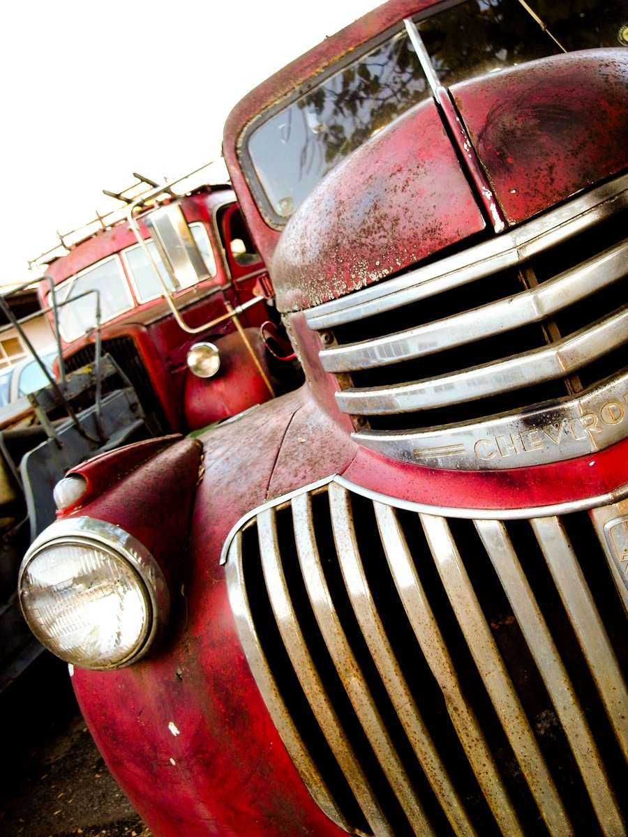 Old Chevy Red Chrome Brothers