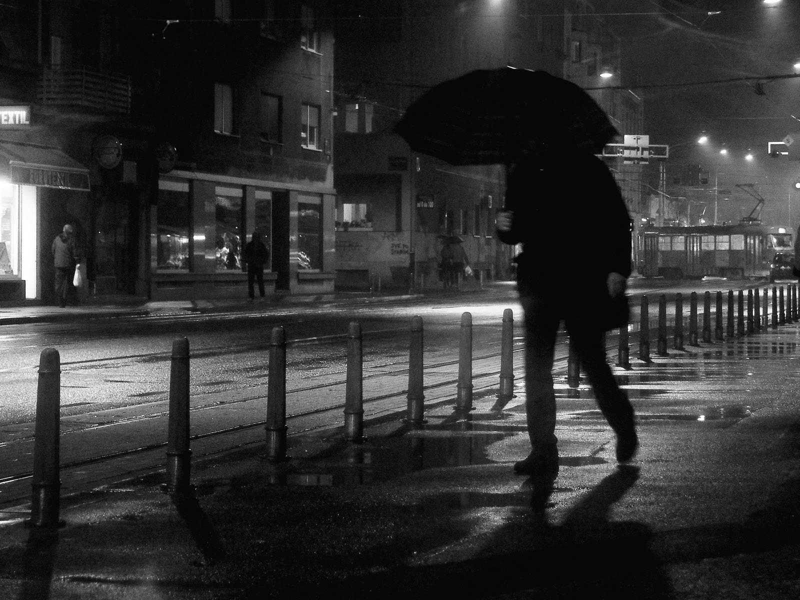 Pasenger in the rain